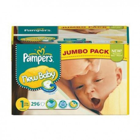 Pampers - Maxi mega pack 480 Couches New Baby Premium Protection taille 1 sur Couches Poupon