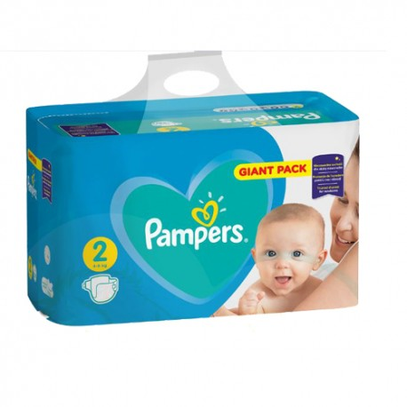 Pampers - Pack 94 Couches Active Baby Dry taille 2 sur Couches Poupon