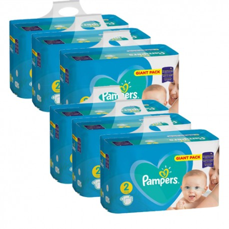Pampers - Mega pack 188 Couches Active Baby Dry taille 2 sur Couches Poupon