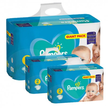 Pampers - Maxi giga pack 376 Couches Active Baby Dry taille 2 sur Couches Poupon