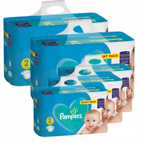 Pampers - Pack jumeaux 564 Couches Active Baby Dry taille 2 sur Couches Poupon