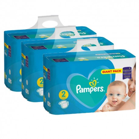 Pampers - Pack jumeaux 658 Couches Active Baby Dry taille 2 sur Couches Poupon