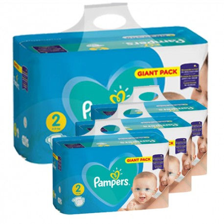Pampers - Pack jumeaux 940 Couches Active Baby Dry taille 2 sur Couches Poupon