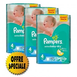 Pampers - Pack jumeaux 980 Couches Active Baby Dry taille 4 sur Couches Poupon