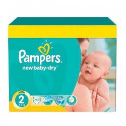 Pampers - Maxi mega pack 432 Couches New Baby Dry taille 2