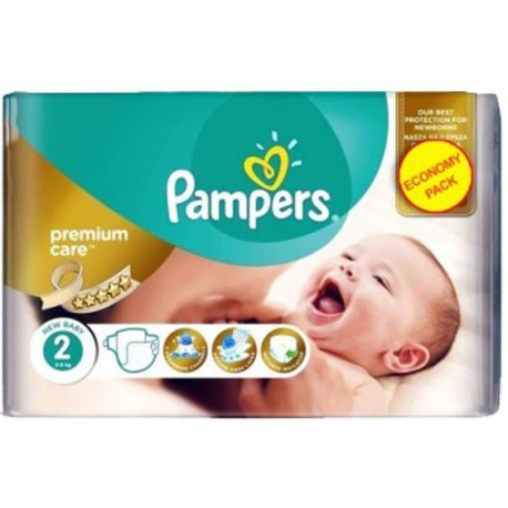 Pampers - Pack 80 Couches New Baby Premium Care taille 2 sur Couches Poupon