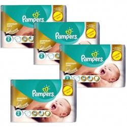 Pampers - Pack jumeaux 720 Couches New Baby Premium Care taille 2 sur Couches Poupon