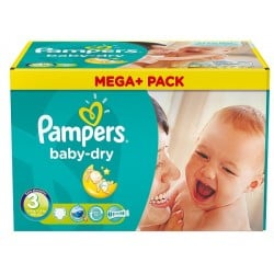 Pampers - Giga pack 232 Couches Baby Dry taille 3 sur Couches Poupon