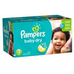Pampers - Pack jumeaux 928 Couches Baby Dry taille 3 sur Couches Poupon