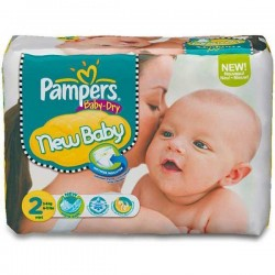 Pampers - Pack 58 Couches Baby Dry taille 2 sur Couches Poupon