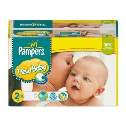 Pampers - Maxi mega pack 464 Couches Baby Dry taille 2 sur Couches Poupon