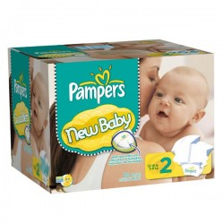 Pampers - Pack jumeaux 638 Couches Baby Dry taille 2 sur Couches Poupon