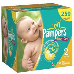 Pampers - Pack jumeaux 696 Couches Baby Dry taille 2 sur Couches Poupon