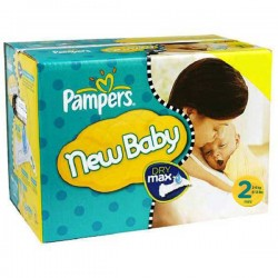 Pampers - Pack jumeaux 870 Couches Baby Dry taille 2 sur Couches Poupon