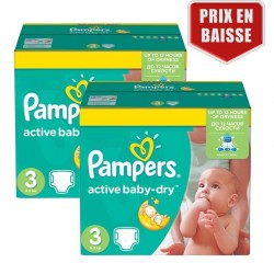 Pampers - Maxi giga pack 330 Couches Active Baby Dry taille 3 sur Couches Poupon