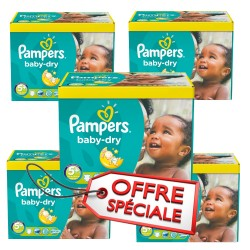 Pampers - Pack jumeaux 504 Couches Baby Dry taille 5+ sur Couches Poupon