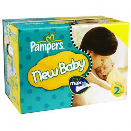 Pampers - Pack jumeaux 1296 Couches New Baby Dry taille 2 sur Couches Poupon