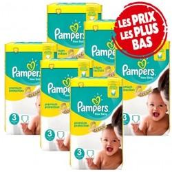 Pampers - Mega pack 160 Couches New Baby Premium Protection taille 3 sur Couches Poupon