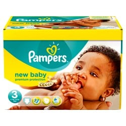 Pampers - Giga pack 220 Couches New Baby Premium Protection taille 3 sur Couches Poupon