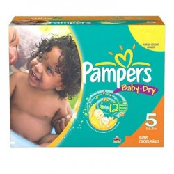 Pampers - Maxi giga pack 304 Couches Baby Dry taille 5 sur Couches Poupon