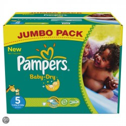 Pampers - Maxi giga pack 380 Couches Baby Dry taille 5 sur Couches Poupon