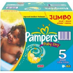 Pampers - Pack jumeaux 684 Couches Baby Dry taille 5 sur Couches Poupon