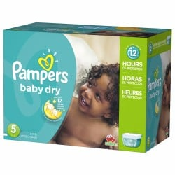 Pampers - Pack jumeaux 760 Couches Baby Dry taille 5 sur Couches Poupon