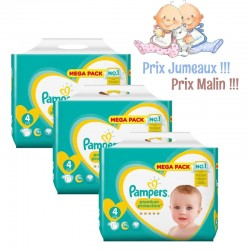 Pampers - Giga pack 216 Couches New Baby Premium Protection taille 4 sur Couches Poupon