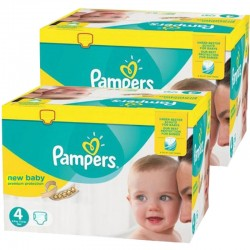 Pampers - Pack jumeaux 504 Couches New Baby Premium Protection taille 4 sur Couches Poupon