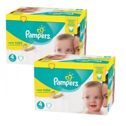 Pampers - Pack jumeaux 528 Couches New Baby Premium Protection taille 4 sur Couches Poupon