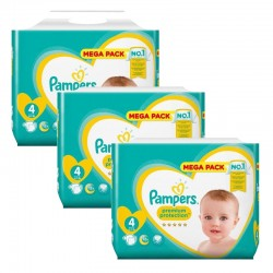 Pampers - Pack jumeaux 552 Couches New Baby Premium Protection taille 4 sur Couches Poupon