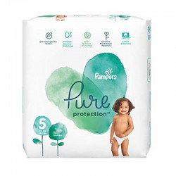 Pampers - Pack 24 Couches Pure Protection taille 5 sur Couches Poupon