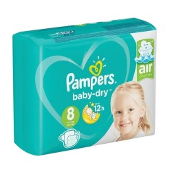 Pampers - Pack 28 Couches Baby Dry taille 8 sur Couches Poupon