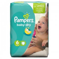 Pampers - Pack 96 Couches Baby Dry taille 6 sur Couches Poupon