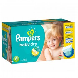 Pampers - Maxi giga pack 384 Couches Baby Dry taille 6 sur Couches Poupon