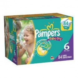Pampers - Pack jumeaux 576 Couches Baby Dry taille 6 sur Couches Poupon