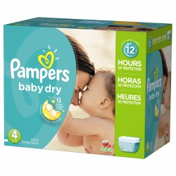 Pampers - Mega pack 125 Couches Baby Dry taille 4 sur Couches Poupon