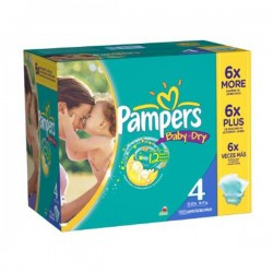 Pampers - Pack jumeaux 500 Couches Baby Dry taille 4 sur Couches Poupon