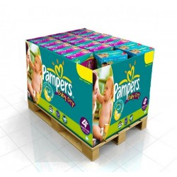 Pampers - Pack jumeaux 525 Couches Baby Dry taille 4 sur Couches Poupon