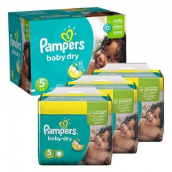 Pampers - Mega pack 156 Couches Baby Dry taille 5 sur Couches Poupon