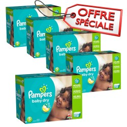 Pampers - Mega pack 195 Couches Baby Dry taille 5 sur Couches Poupon