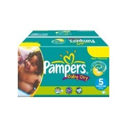 Pampers - Pack 93 Couches Baby Dry taille 5 sur Couches Poupon