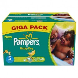 Pampers - Mega pack 186 Couches Baby Dry taille 5 sur Couches Poupon