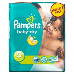 Pampers - Giga pack 217 Couches Baby Dry taille 5 sur Couches Poupon