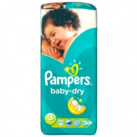 Pampers - Pack 30 Couches Baby Dry taille 3 sur Couches Poupon