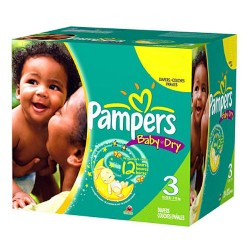 Pampers - Giga pack 210 Couches Baby Dry taille 3 sur Couches Poupon
