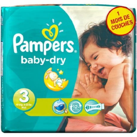 Pampers - Maxi giga pack 390 Couches Baby Dry taille 3 sur Couches Poupon