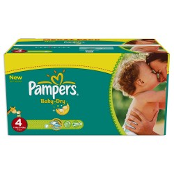 Pampers - Pack jumeaux 637 Couches Baby Dry taille 4 sur Couches Poupon