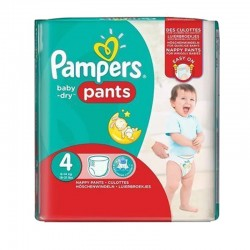 Pampers - Pack 82 Couches Baby Dry Pants taille 4 sur Couches Poupon