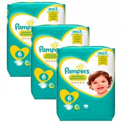 Pampers - Maxi giga pack 372 Couches New Baby Premium Protection taille 6 sur Couches Poupon